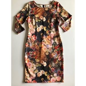 In Time for Easter! Eci Floral 3/4Sleeve Dress EUC